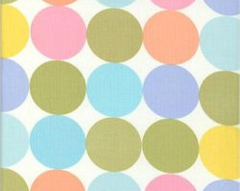 "Michael Miller Pastel Disco Dot Cotton Fabric 44 x 31"" piece"