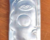 Modernist Folk Art Picasso Face Pin