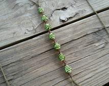 mint chocolate body chain // nickel free jewelry // body chain jewelry // beaded body chain // HEY158