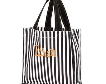 Black stripe Halloween Bag-Candy Bag-Monogram included