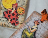 Halloween Vintage Style Gift Tags