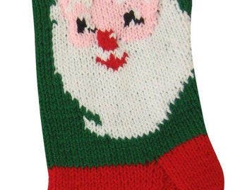 Knit Christmas Stocking Pattern, Santa Claus Knit Pattern, Christmas Stocking, Christmas Stocking Pattern,  Knitted Christmas Stocking