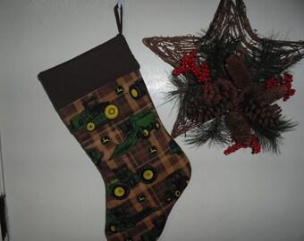 John Deere green Christmas stocking
