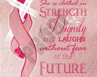 11x14 PRINTABLE Breast Cancer Inspirational Print