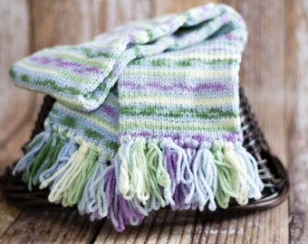Watercolor Stripes scarf