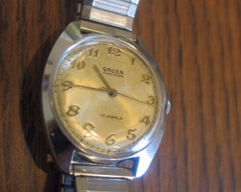 Vintage GRUEN Precision 17 Jewel Stainless Steel Wind Watch