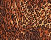 Alexander Henry Brown Leopard Skin Print 100% Cotton Quilting Fabric