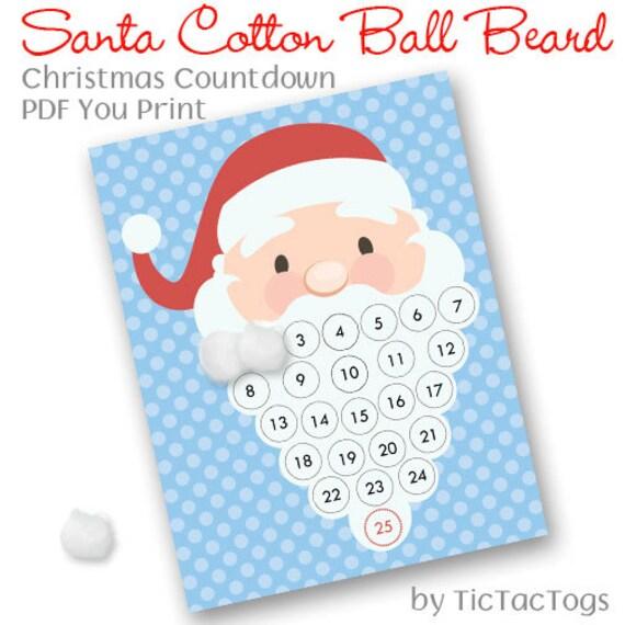Diy Santa Beard Advent Calendar