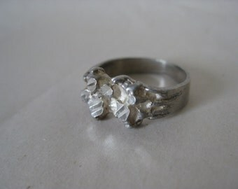 Texture Sterling Ring Vintage 6 925 Silver