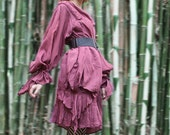 Bewildered... Dress ..Colours No.3 ..Maroon Red and all colours available ...Boho/ Bohemian /Long sleeve