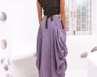 Helen Skirt.. Lavender  mix silk...(All sizes/ all colors)
