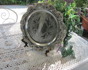 "Wow Lowered Price...Chantilly Pattern YC1344 Gorham Silver Tray, 13"", Wedding Cake Platter"