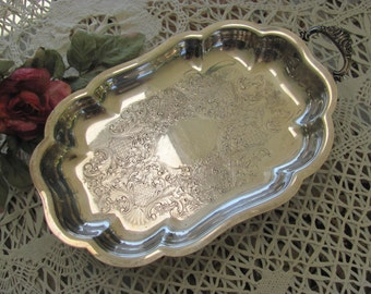 Wow...Lowered Price Wallace Silver Serving  Dish, Wedding candy dish, Marked Wallace 2422,