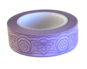 Washi Tape, Lavender Lace, Love My Tapes Brand, 15mm x 10m (over 32 ft.) Purple
