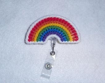Rainbow Retractable Badge Clip