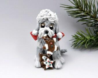 Dandie Dinmont Terrier Christmas Ornament Figurine Cookies Porcelain