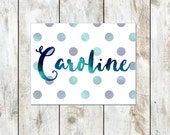 Watercolor Polka Dot Stationery Set - Casual Watercolor Folded Notes - Personalized Stationery Cards