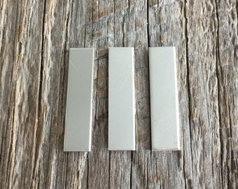 3 Pack 1/4 inch x 1 inch 18 gauge Sterling Silver Rectangle Name Tags Jewelry Supplies