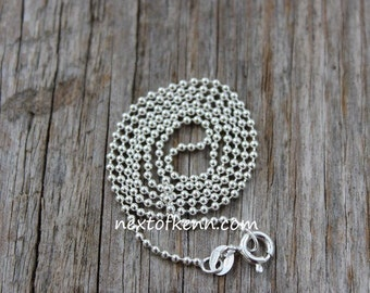 18 inch Sterling Silver Ball Chain 1.5mm
