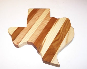 TEXAS Cheese Cutting Board Handcrafted from Mixed Hardwoods