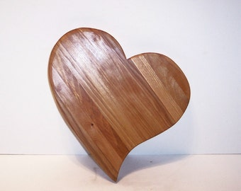 Heart Shaped Cheese Cutting Board Handcrafted from Mixed Hardwoods