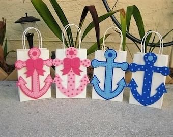 Anchor Nautical Favor Party Bags