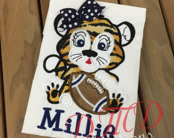 Baby Girl Tiger with Football