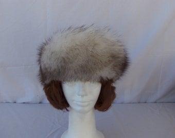 Vintage 1960's Womens Fur Head Band