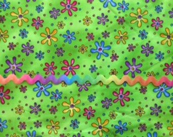 """Multi-colored 5/8"""" Wright's polyester rick rack:  3 yards"""