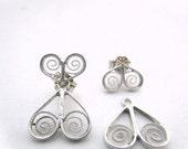 Butterfly Ear Jackets, Silver Ear Jacket, Filigree Ear Jacket Earrings