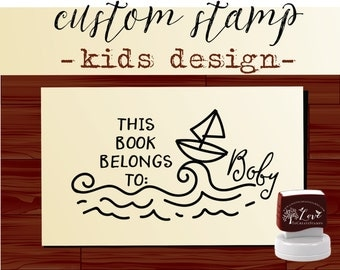 Kids book Custom LIBRARY STAMP Self Inking Book Stamp From the Library of Teacher Stamp Personalized Library School Stamp - Style 1581