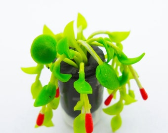 Miniature Polymer Clay Handmade Flowers for Dollhouse 1 piece