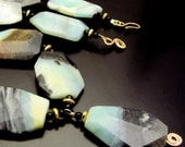 Reserved For Pam - STORM CLOUDS ~ Bold Amazonite Pyrite, 14kt Gold Fill Necklace