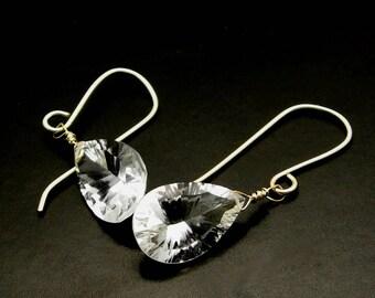 DIAMONDS ARE FOREVER ~ Bold Rock Quartz, 14kt Gold Fill Earrings