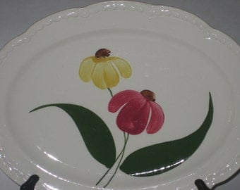 Serving Platter Hand Painted Heritage Ware Stetson Summertime 1940's