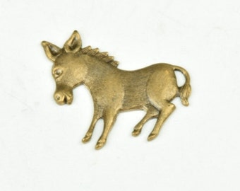 Donkey Metal Stamping  Brass antique finish sold in packs of 6 15165