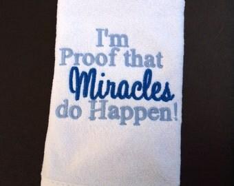 Miracles Do Happen Bib