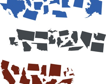 Fulltime Families State map - Replacement stickers
