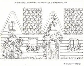House - Coloring Page - PDF - Instant Download