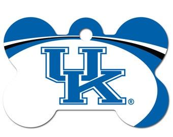 Kentucky Wildcats Licensed Bone Pet ID Tag
