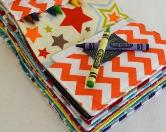 Birthday Party Favors . Crayon Wallets . Set of 15 . 8 Crayons and Notepad Included . Art Party . Wedding Favors . Gift for Students
