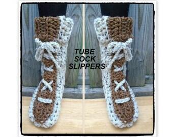 crochet slippers pattern, Genius Tube Slippers, Tube Sock Slipper, Beginner slippers, Patterns for kids-teens-men-women, #851