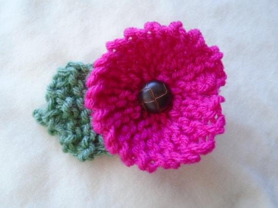 KNITTING PATTERN Flower Beginner level Knit Flower Pattern