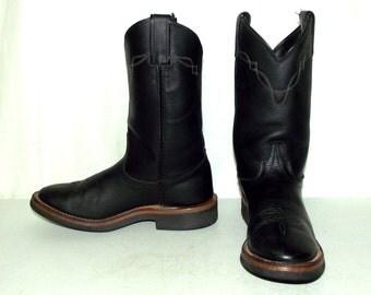 Black leather Laredo Womens cowboy boots size 8.5 M cowgirl western wear