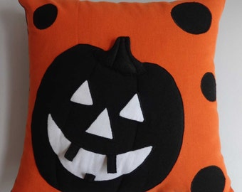 Black and Orange 3D  Halloween pumpkin pillow  16X16 inch on discount price