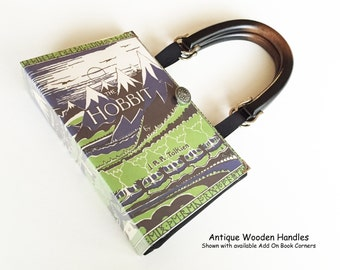 The Hobbit Book Purse - Lord of The Rings by JRR Tolkien Book Cover Handbag