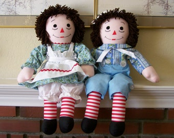 """25"""" raggedy ann and andy powdered lace variant"""