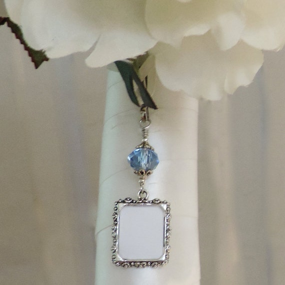 Smilingbluedog Wedding Bouquet Photo Charm Something