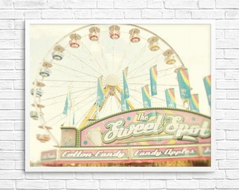 BUY 2 GET 1 FREE Carnival Photography, Sweet, fpoe, Nursery Photography, Pastels, Girls Room, Ferris Wheel - The Sweet Spot