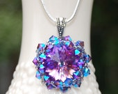 Jazzy Violet Swarovski Crystal Necklace